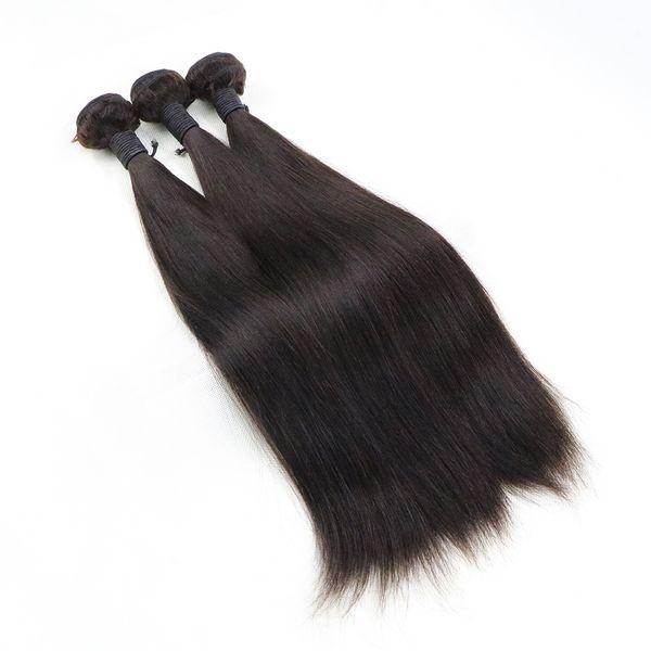 26 26 26 Color 2 Medium Brown Straight Brazilian Hair Weft Extensions 3 Bundles Deal Unprocessed Human Hair Weave Straight Hair Weaving