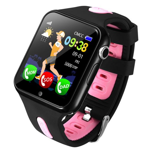 Espanson V5 Bambini GPS Smart Watch con fotocamera sicurezza di emergenza Facebook Anti perso SOS per ISO Android orologio bambino impermeabile