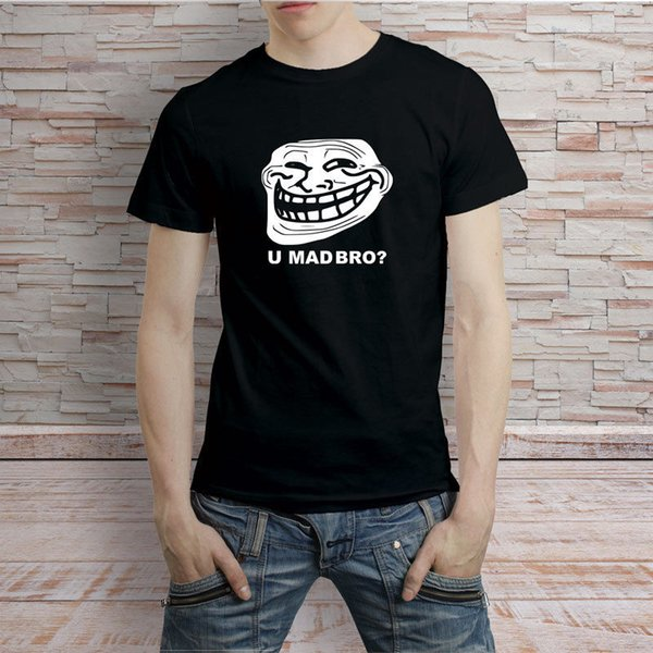 Troll Face Meme You Mad Bro Tshirt Tee Black And White Funny Unisex Tshirt  Top Funny Tee Shirt Buy T Shirt Designs From Cheapasstees, $10 28|