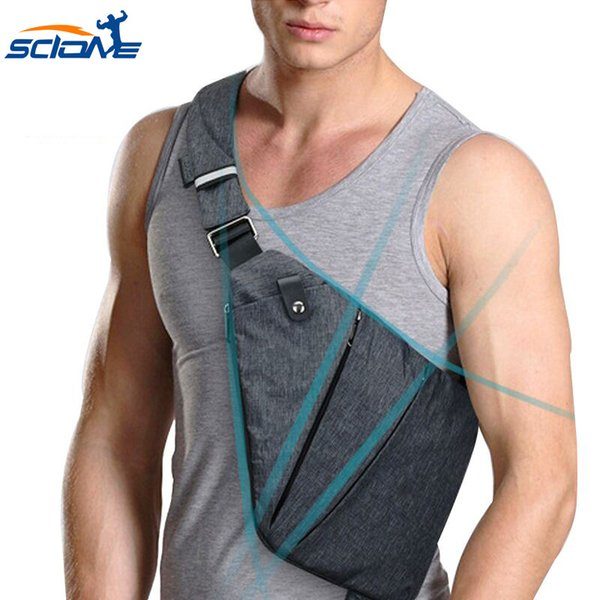 Scione Сумка через плечо для мужчин, небольшая повседневная многофункциональная мужская / женская деловая сумка, спортивные сумки на открытом воздухе
