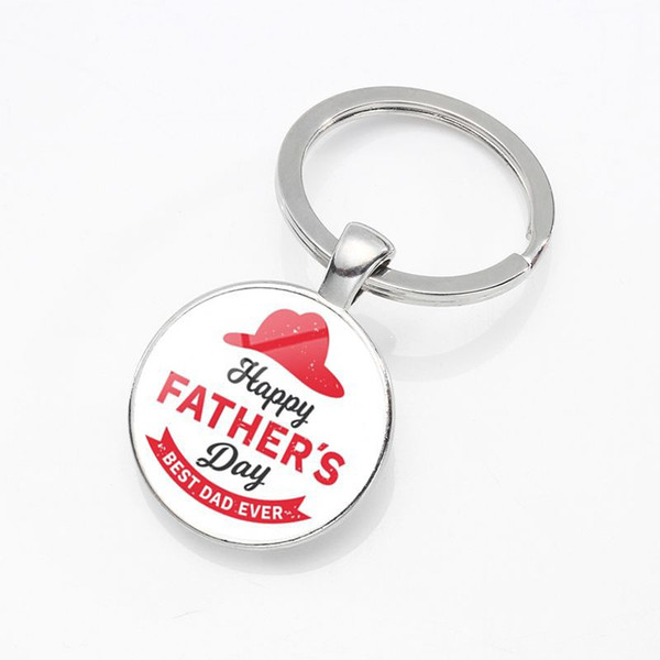 Summer new mirror dome alloy pendant keychain Creative beautiful car key ring Wholesale custom Father's Day gift