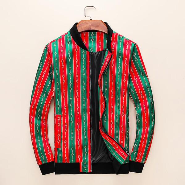 Дизайнер мужская мода куртка повседневная ветровка с длинным рукавом хлопок смесь с длинным рукавом мужская куртка карман на молнии геометрический узор Жаке