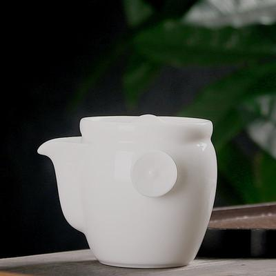 best selling teapot with simple ceramic ball hole kung fu tea set jade white porcelain single tea pot well bar 100-200ml size teapot