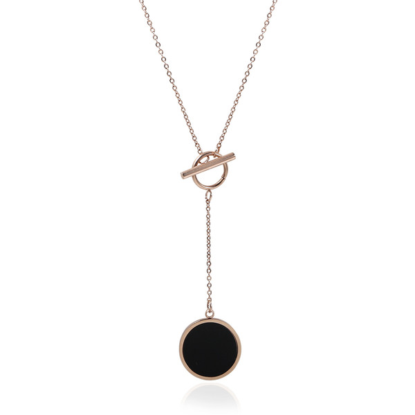 Gold Women Jewelry Long Necklace & Pendant Stainless Steel Statement Vintage Necklace Rose Gold Chain Gift For Women Modern J