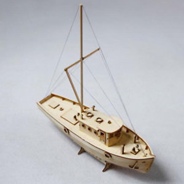 top popular Wooden Sailing Boat Building Kits Ship Model Wooden Sailboat Toys Harvey Sailing Model Assembled Wooden Kit DIY Decoration Toy Y190530 2020