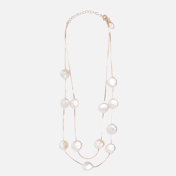 Charm Water Drop Necklace Pendant Jewellery Chains Crystal Chain with Stone