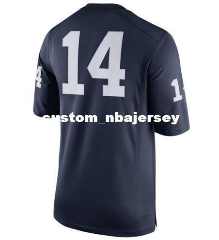 Cheap wholesale Penn State Nittany Lions White #14 Football Jersey New!! Sewing custom any number name football jersey