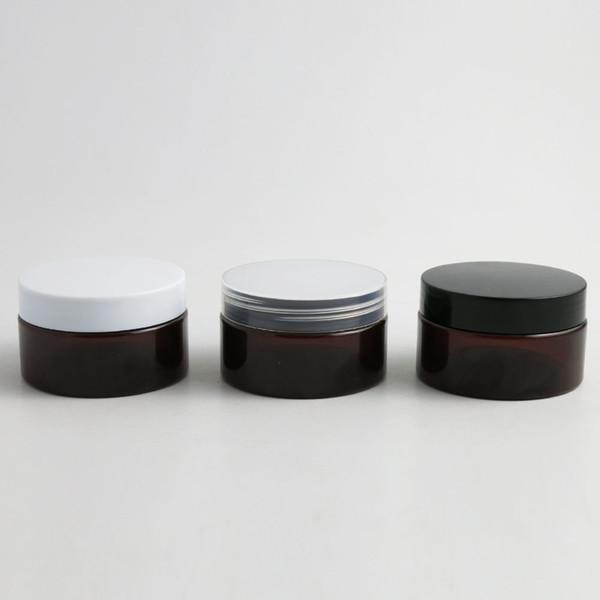 30pcs bouteilles réutilisables ambre brun foncé en plastique vide maquillage pot de pot 100g voyage visage crème lotion conteneur de stockage cosmétique