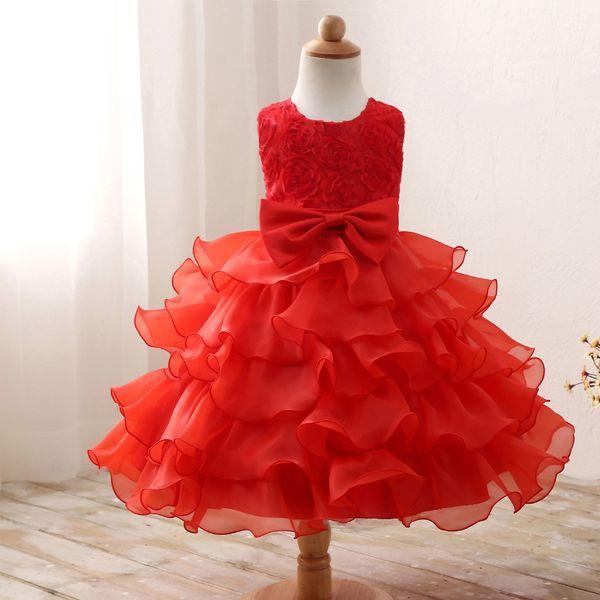 Flower Girl Dress For Wedding Baby Girl 3-8 Years Birthday Outfits Children's Girls First Communion Dresses Girl Kids Party Wear