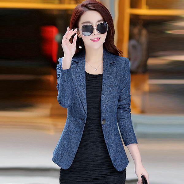 Moda para mujer Primavera Blazer Rosa Verde de manga larga Casual Chaqueta de estilo coreano Elegante Oficina Señoras Business Blazer