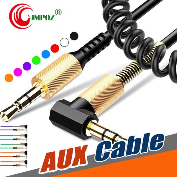 Aux Spiral Auxiliary Cord 3.5mm Curly For Car Audio Cable Stereo Male To Male