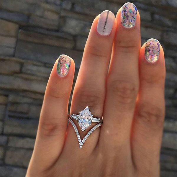 Ailend ring jewelry alloy micro-inlaid zircon ladies ring 2018 hot sale