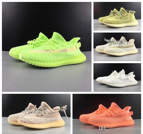 2019 Bebek v2 Hiper uzay Çocuk Koşu ayakkabı Kanye West Moda Toddler eğitmenler erkek kız Çocuk Tasarımcı Sneaker Gerçek Formu 36-46