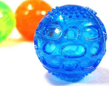 Dog Chew Toy Pet Rubber Balls Squeaky Toys Dog Cat Bite Resistant Molar Teeth Cleaning Toy