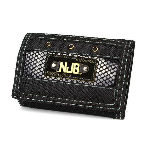 Men Fashion Wallets Canvas Fabric Short Purses Wallet Cards Id Holder Money Mini Bags Coin Purse Burse Pockets Notecase Pouch