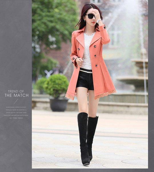 giacca di autunno rosa