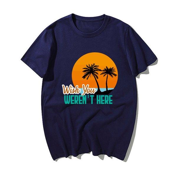 Moda Sen Komik Alaycı Tişört Erkekler Komik Yaz Pamuk Kısa Kollu T Shirt Hip Hop Tees Tops burada değildi dilek
