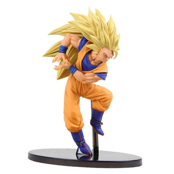 Original banpresto Dragon Ball Z figure super saiyan 3 son goku Figurine PVC Action Figure Collectible Model Toy