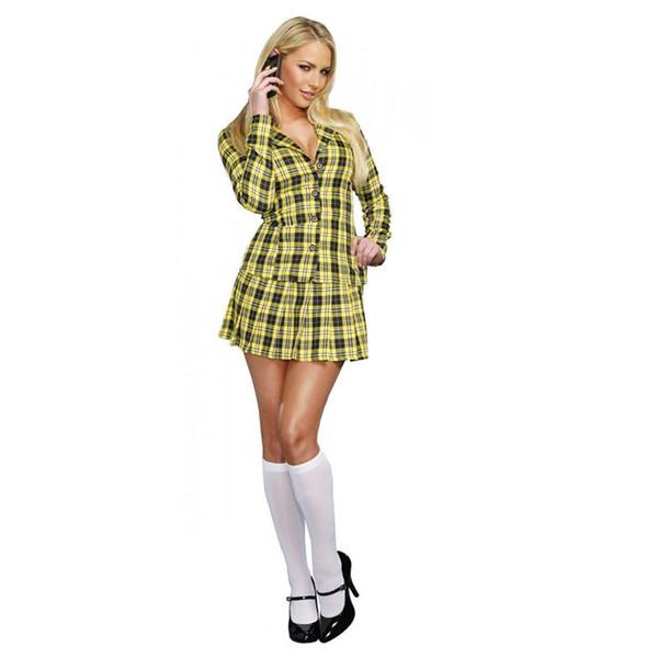 Женская женская школьная униформа студентка сексуальное женское белье костюм необычные ну вечеринку экзотические костюмы ролевые игры мини плед юбка