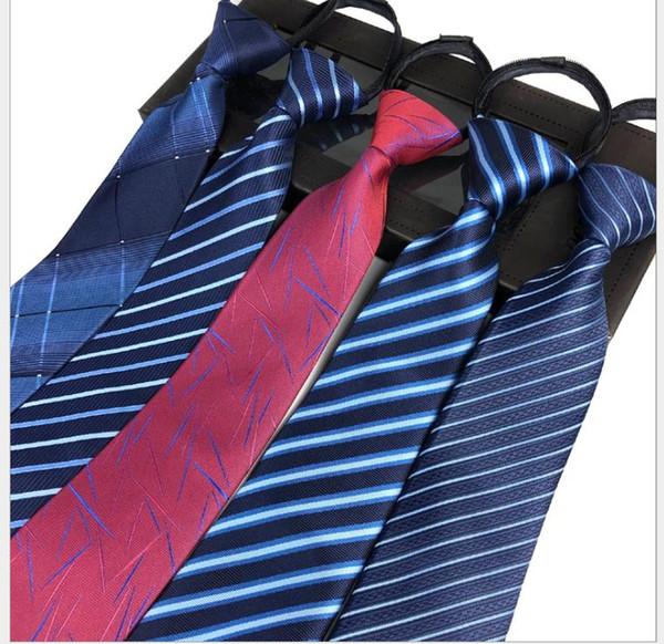 ZIPPER TIE da uomo facile da tirare cravatta professionale da lavoro