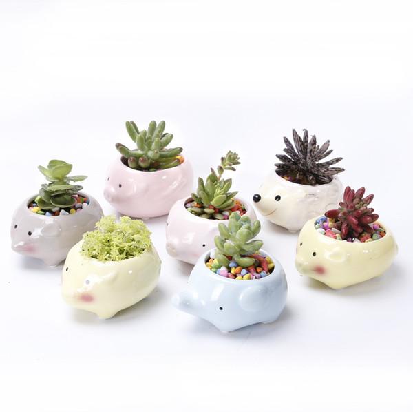 200pcs Flower Pot Planter Animal Shape Case Planter Ceramic Plant Pot Succulent Flower Outdoor Indoor for Home Decor