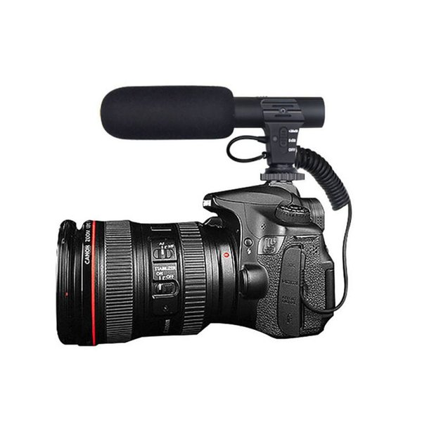 Interview Microphone Hypercardioid Camera Video Outdoor Computer Recording Hifi HD Sound Mini Microphone 3.5mm