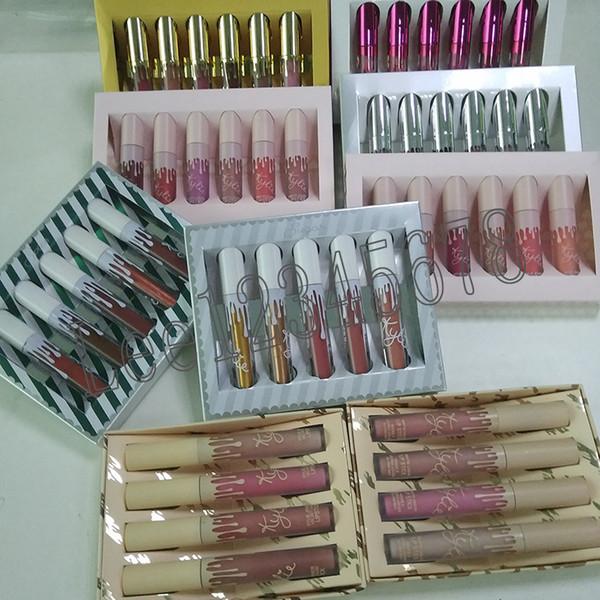 send me more nudes The kylie Birthday Collection I want it ALL Liquid lipstick matte velvet lipgloss 6pcs/set 4pcs/set DHL FREE