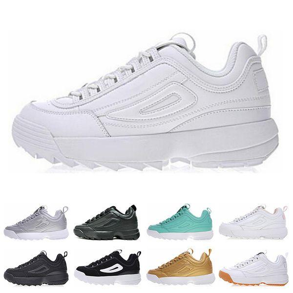 guarda bene le scarpe in vendita alta moda sfumature di Acquista FILA Disruptor 2 II New Sawtooth White Triple Nero FILE ...