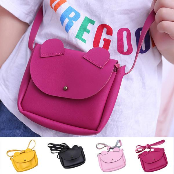 Hot Sale Children Crossbody Sling Pu Leather Small Coin Wallet Handbag Cute Cartoon Ears Kids Girls Shoulder Bag Popular