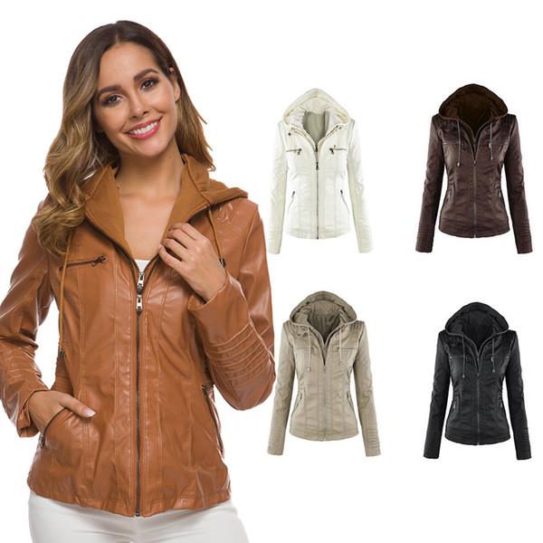 autumn winter leather jacket women faux fur coat women leather jacket female slim moto biker basic plush casual outerwear