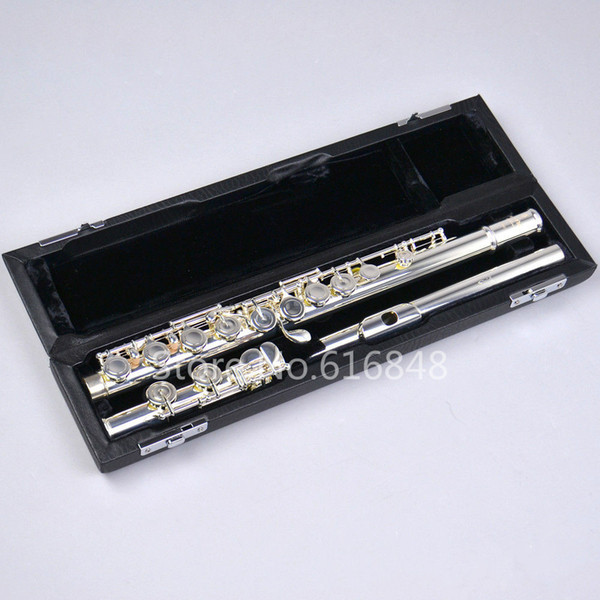 New Pearl Dolce C Tune Flute Cupronickel Body Silver Plated Flute Brand 16 Keys Holes Closed Musical Instrument With Case