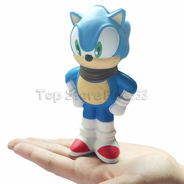 Squishy Toy Sonic the Hedgehog PU 14.5CM Squishies Slow Rising Jumbo Stress Relieve Multicolor Children Squeeze Toys Kids Decompression