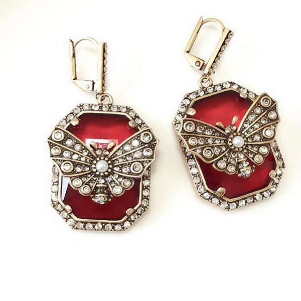 New Elegant Women Earrings Gold Plated CZ Betterfly Earrings for Girls Women for Party Wedding Nice Gift