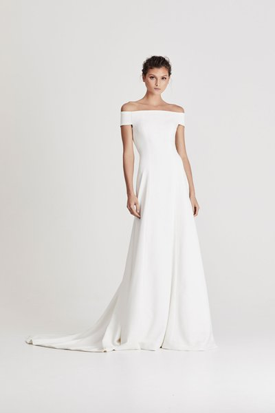 Trumpet Crepe Wedding Dresses