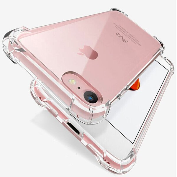 1 5 thick fa hion hockproof bumper tran parent ilicone phone ca e for iphone 11 x x xr x max 8 7 6 6 plu clear protection back cover