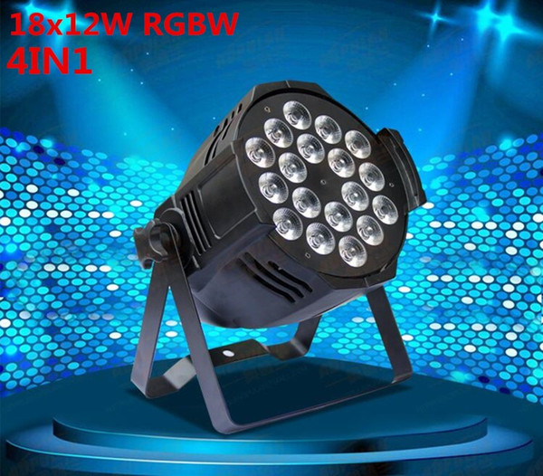 4pcs/lot, LED par 18x12W RGBW 4in1 Quad LED Par Can Par64 led spotlight dj projector wash lighting stage light light