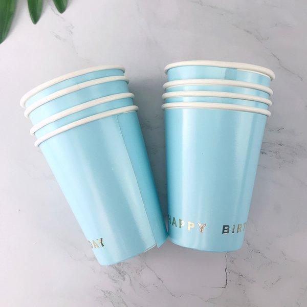 8pcs tasse bleue