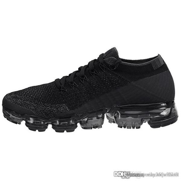 Compre Nike Vapormax 2019 Venta Al Por Mayor Hombres Mujeres 2018 2.0 2 Platino Negro Tenis Blanco Zapatillas De Deporte Plyknit Entrenador Zapatos