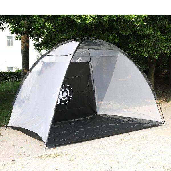 Outdoor Waterproof Folding Golf Training Target Practice Net Black