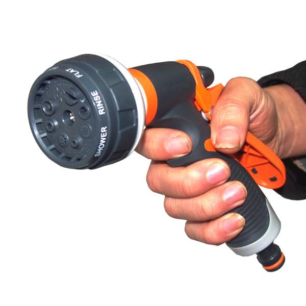 Supplies 8 modello in plastica ad alta pressione 1Pcs multifunzione pistola di acqua per la pulizia degli ugelli veicolo della pistola a spruzzo di innaffiatura di giardinaggio Strumento