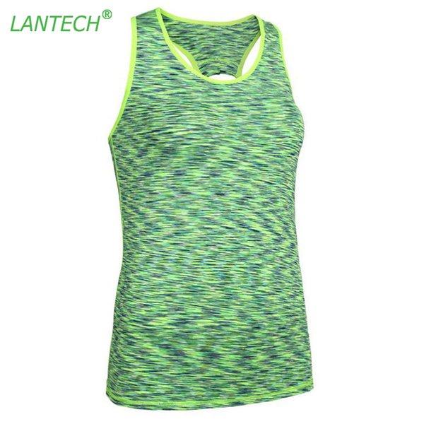 Lantech Женщины Йога жилет Tank беговые Спорт Бег Спортивная Фитнес-центр Компрессионные колготки Одежда Топы рукавов