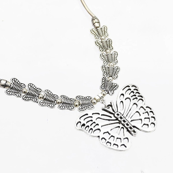best selling Bohemian Vintage Silver Statement Necklace Carved Flower Turkish Round Shape Choker Necklaces Women Jewelry
