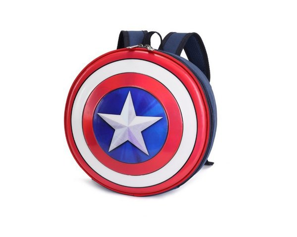 New children's cartoon shoulder bag creative styling bag personality boys and girls US captain shield bag wholesale