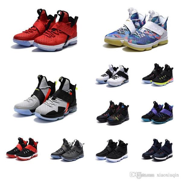 Cheap Women lebron 14 basketball shoes for sale Christmas BHM Easter Bred  Boys Girls Youth Kids 964bddc36e