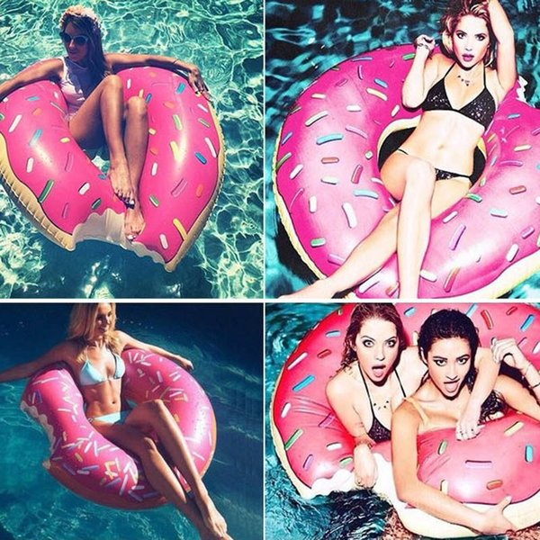 PVC Swimming Ring Adult Donut Children Inflatable Floats Swim Giant Pool Water Pool Toys Beach Kid Life Buoy Circle 90/120cm