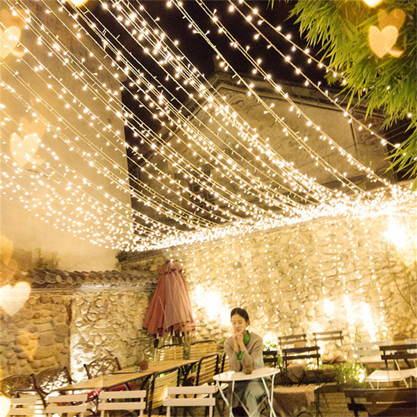 100m 24v Safe Voltage Led String Lights Outdoor Waterproof Christmas Trees Xmas Party Wedding Decoration Garland Fairy Light Led Patio String Lights