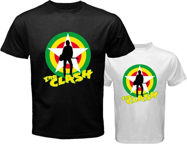 Novo CLASH 80's Punk Rock Band dos homens Branco Preto T-Shirt Tamanho S para 3XL