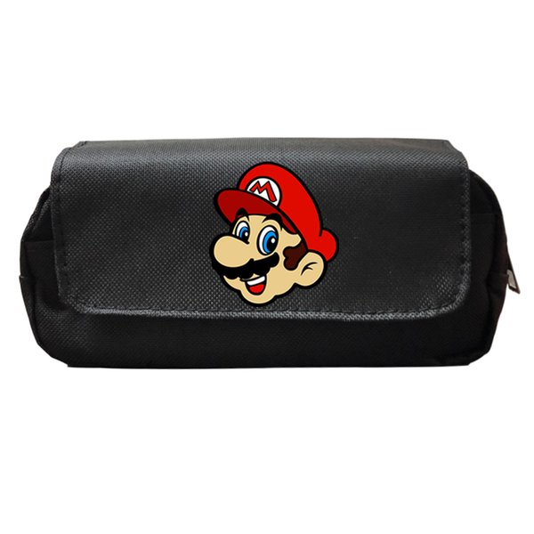 Hot Sale Super Mario Fashion Pencil Case Students Boys Girls School Supplies Fashion Cute Kids Gifts Makeup Bags Stationery Box