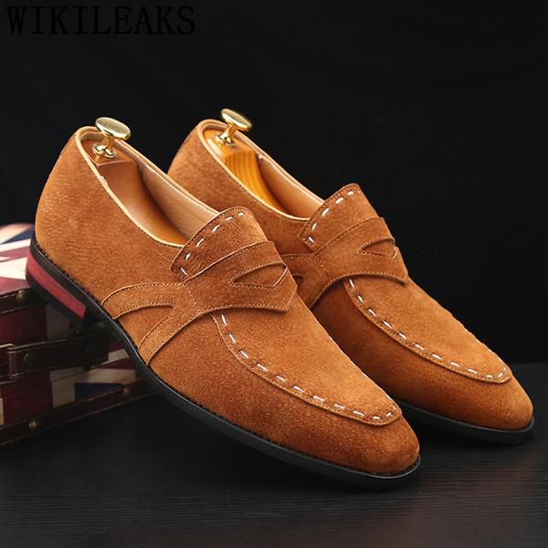 formal men shoes dress big size loafers men wedding shoes  designer coiffeur italian sepatu slip on pria ayakkabi