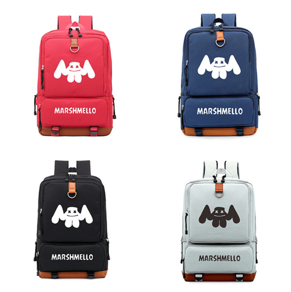 Hot Sale Marshmello Backpack backpack schoolbag for teenagers School Bags travel Casual Laptop Bags Rucksack LE222